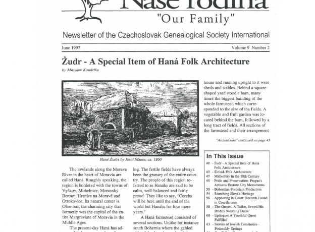 Cover of June 1997 Naše rodina
