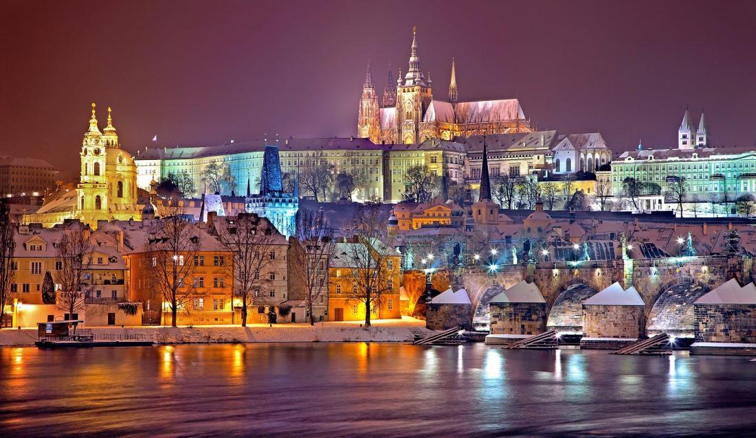 Prague - winter scene