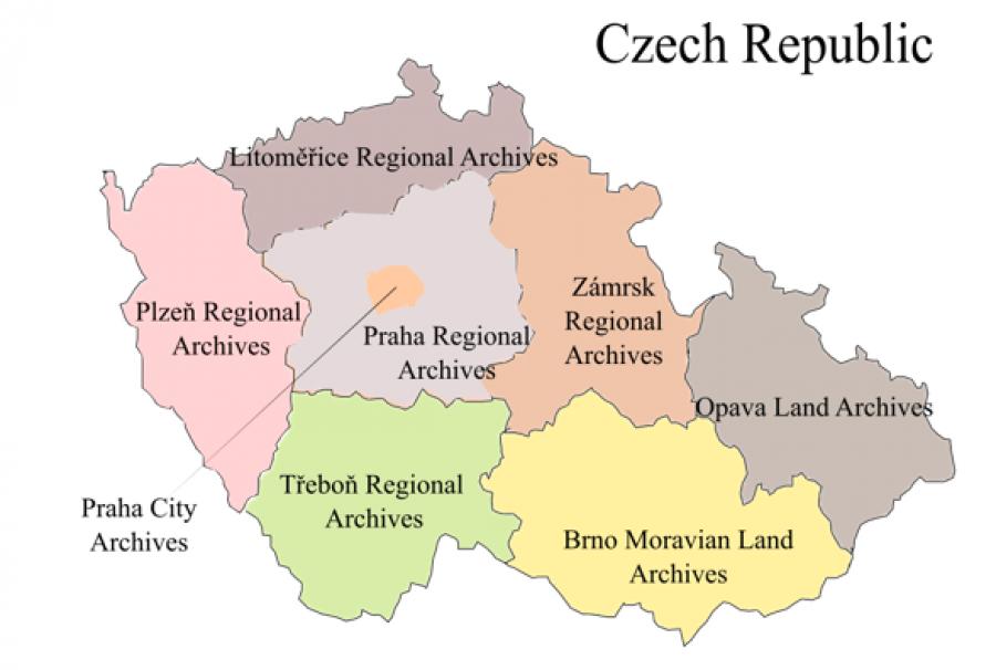 Czech map - regions