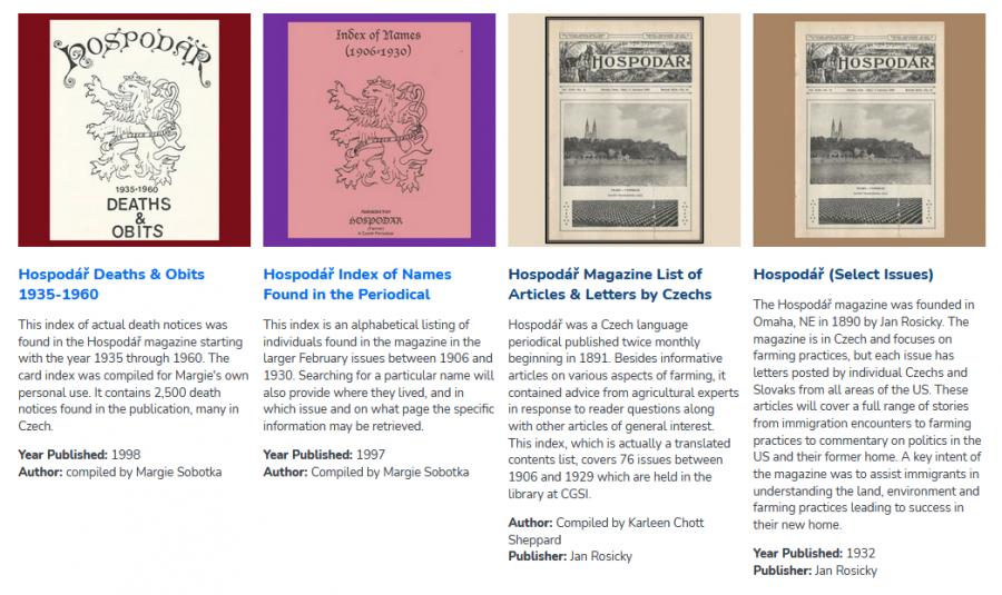 Hospodář items available in the CGSI Digital Library