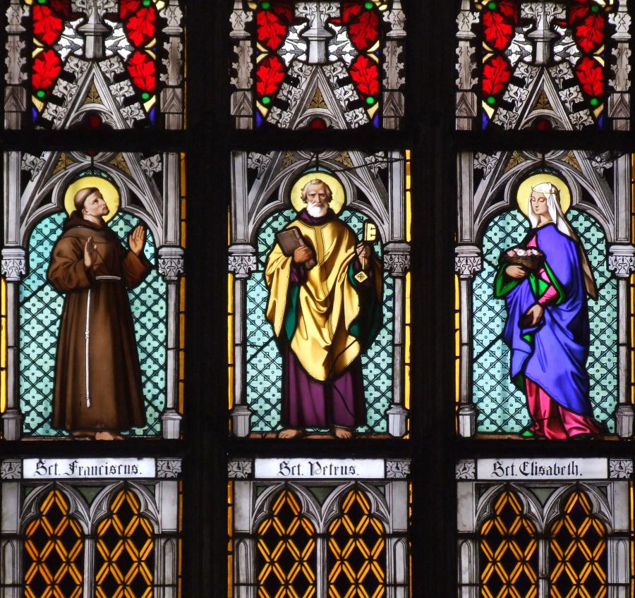 St Vitus Cathedral Stained Glass Detail