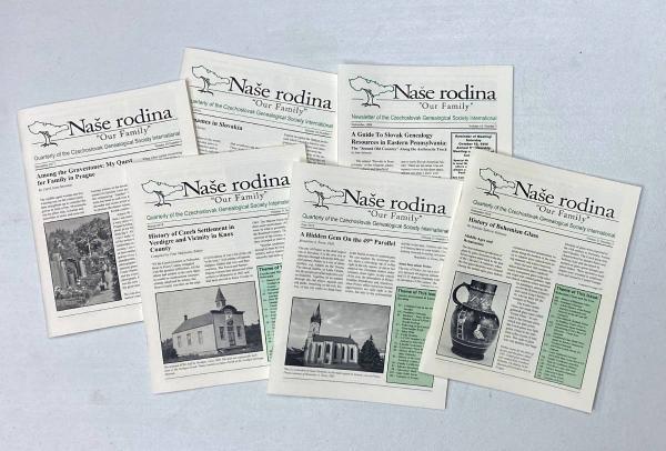 Display of Naše rodina covers