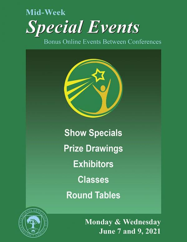 SCGS 2021 Special Events