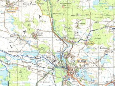 Czech Hiking Map sample