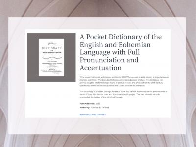 DL: pocket dictionary