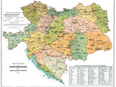 Map of Austria-Hungary military regions